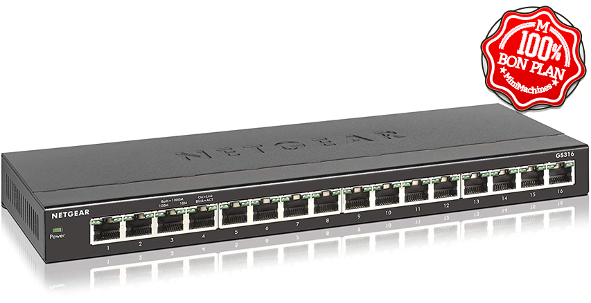 Switch Ethernet 16 ports Netgear GS116E Gigabit