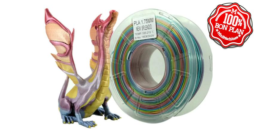 Filament PLA Stronghero3D 1Kg 1.75mm multi coloris