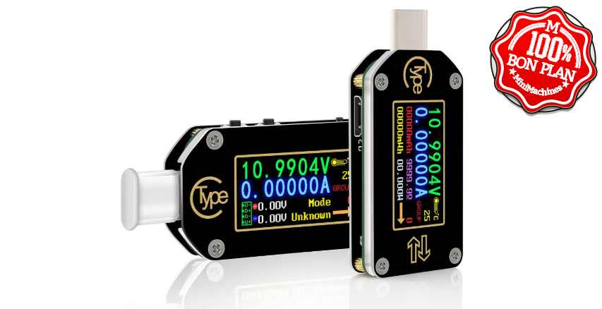 Voltmètre USB Type-C Riden T66 Bluetooth