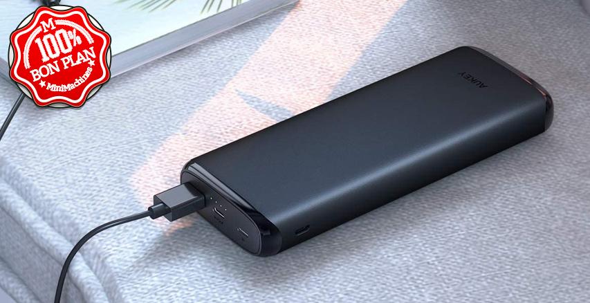 Batterie Externe Aukey 20000 mAh USB Type-C