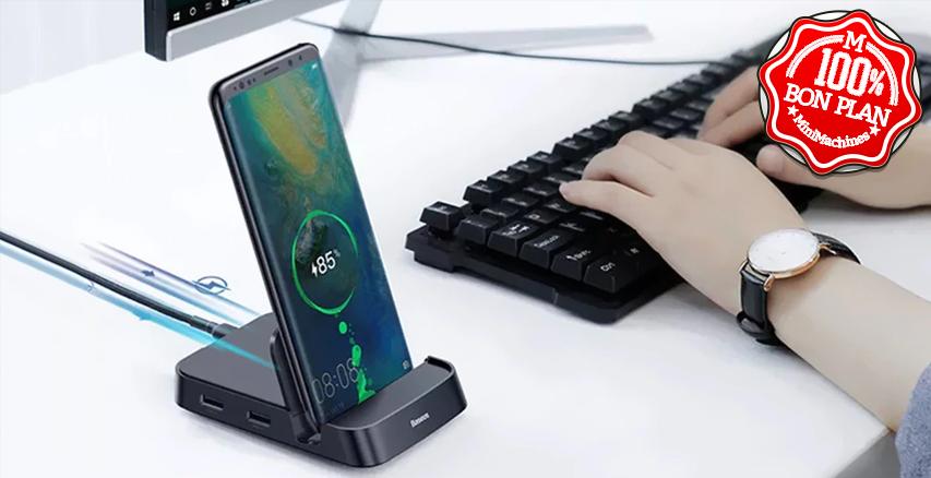 Support smartphone Baseus USB Type-C + Dock complet