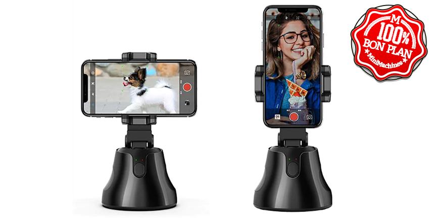 Support de smartphone avec détection de visage 360°
