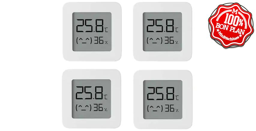 Pack de 4 Thermomètres et Hygromètres Mijia Bluetooth