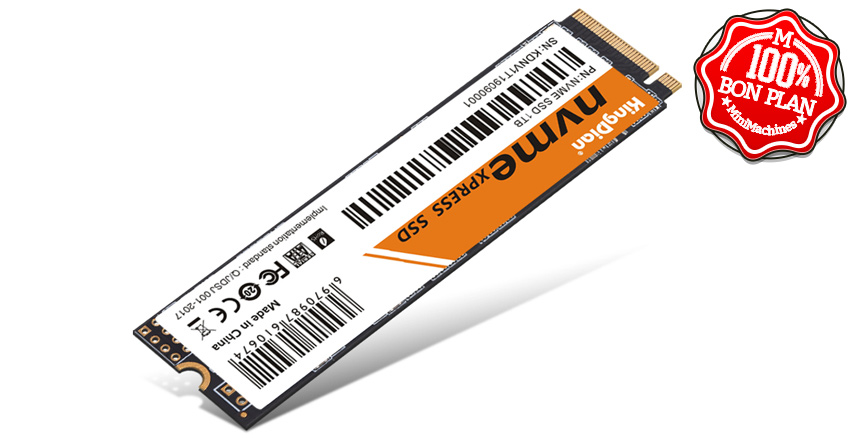 SSD PCIe NVMe 1 To Kingdian M.2 2280