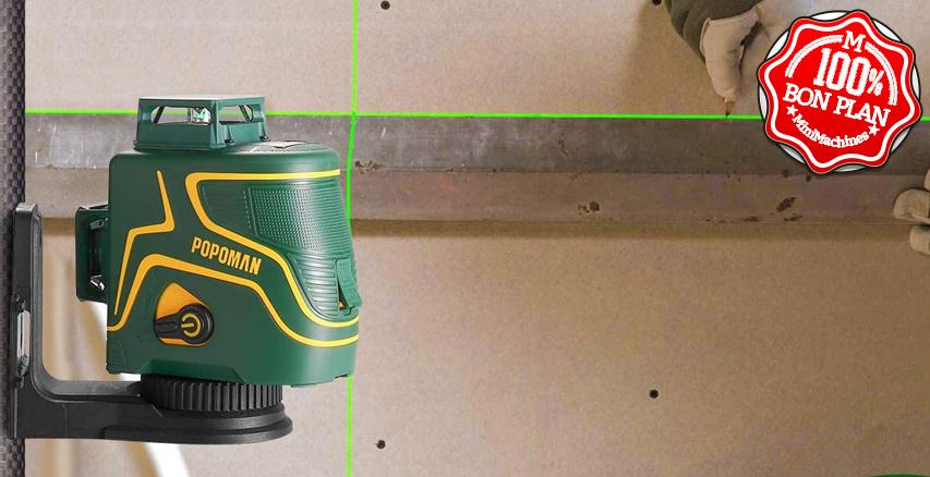 Niveau laser vert 360° POPOMAN MTM340B