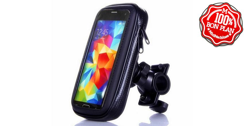 Support smartphone anti pluie pour vélo
