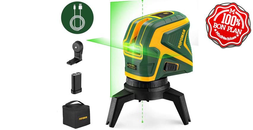 Niveau laser vert double POPOMAN MTM320B