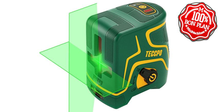 Niveau laser vert en croix 360° TECCPO  TDLS09P