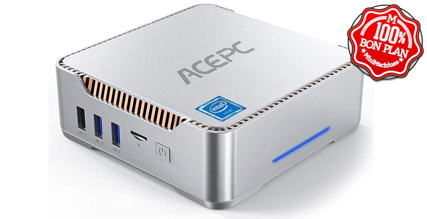 MiniPC AcePC AK3 Celeron J4125 8/120Go + 2.5