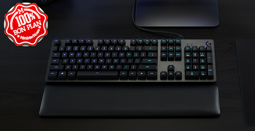 Clavier Logitech  G513 Carbon Lightsync RVB Switchs GX