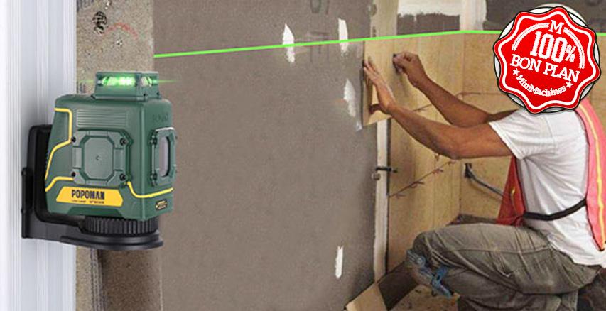 Niveau laser vert 360° POPOMAN MTM330B