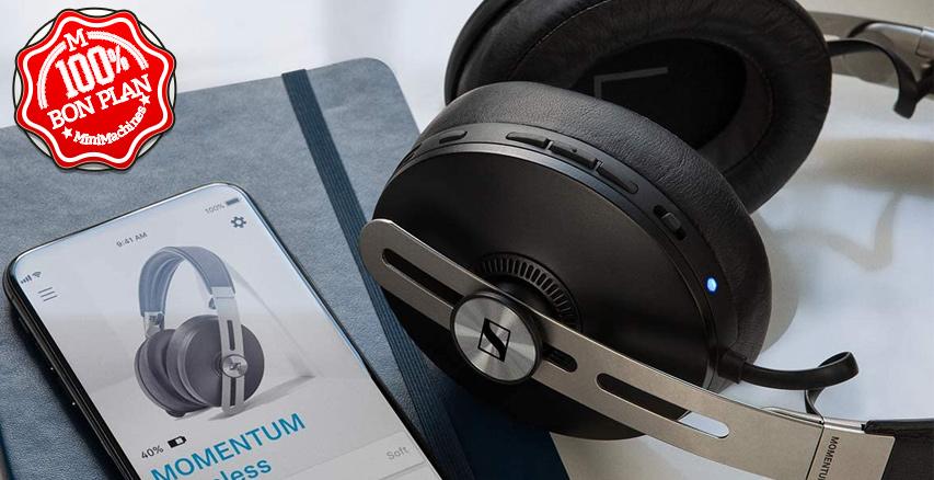 Casque Bluetooth Sennheiser Momentum 3 avec suppression de bruit