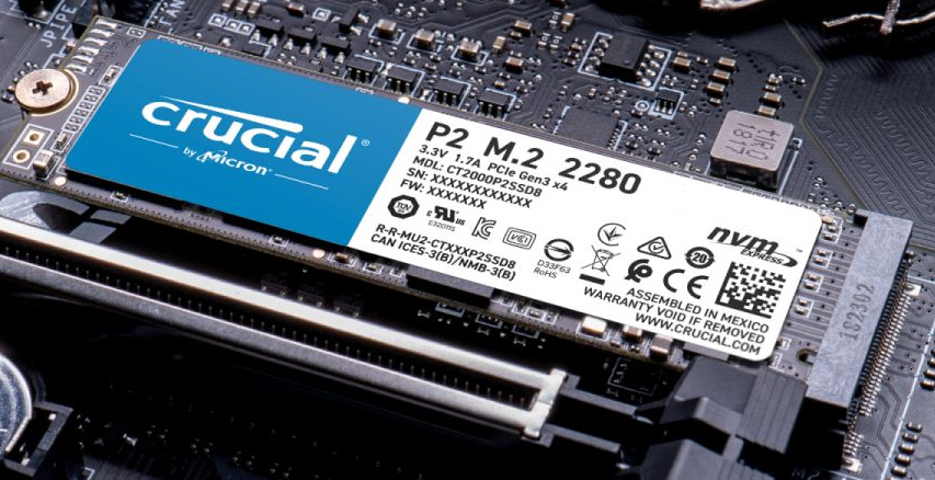 SSD M.2 2280 Crucial P2 1 To NVMe PCIe