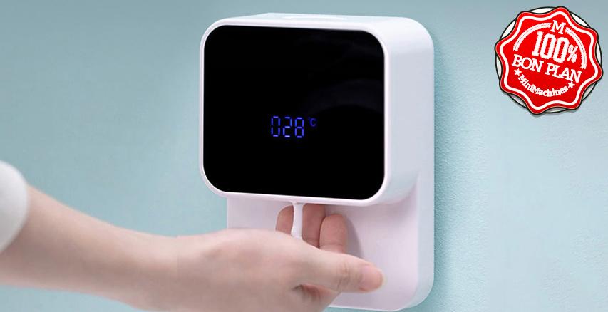 Distributeur de savon sans contact + thermomètre