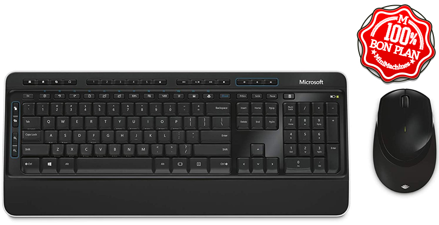Ensemble clavier souris Microsoft Wireless Comfort Desktop 3050
