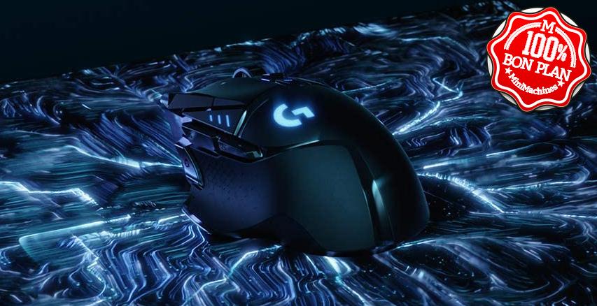 Souris Logitech G502 LIGHTSPEED sans fil noire