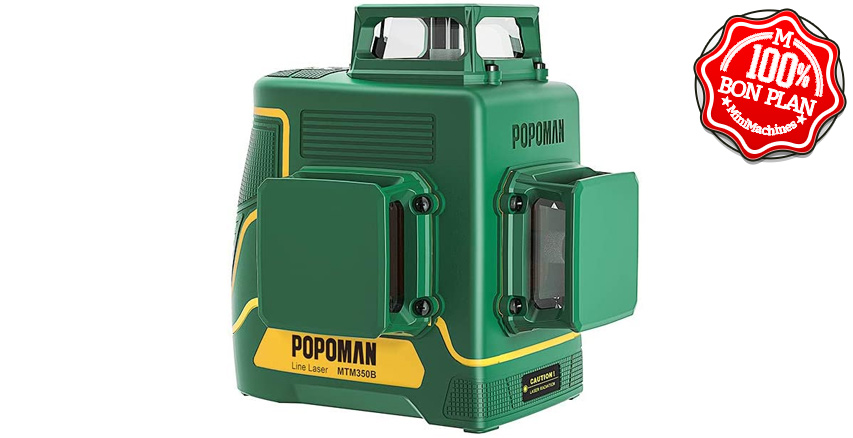 Niveau Laser vert 3 x 360° Popoman ✊ FR-MTM350B