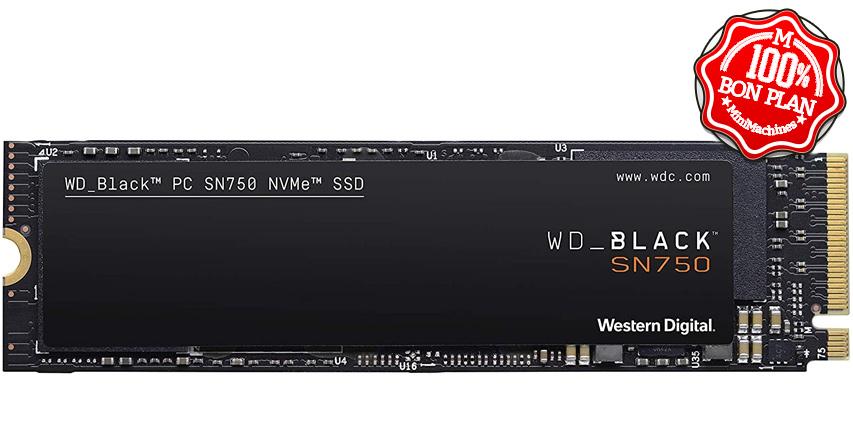 SSD WD Black SN750 1 To M2 PCie NVMe sans dissipateur