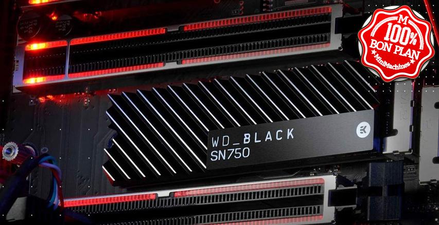 SSD 1To WD Black SN750 PCIe NVMe avec dissipateur