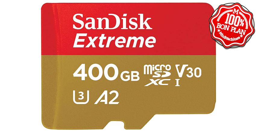 Carte MicroSDXC Sandisk Extreme 400 Go