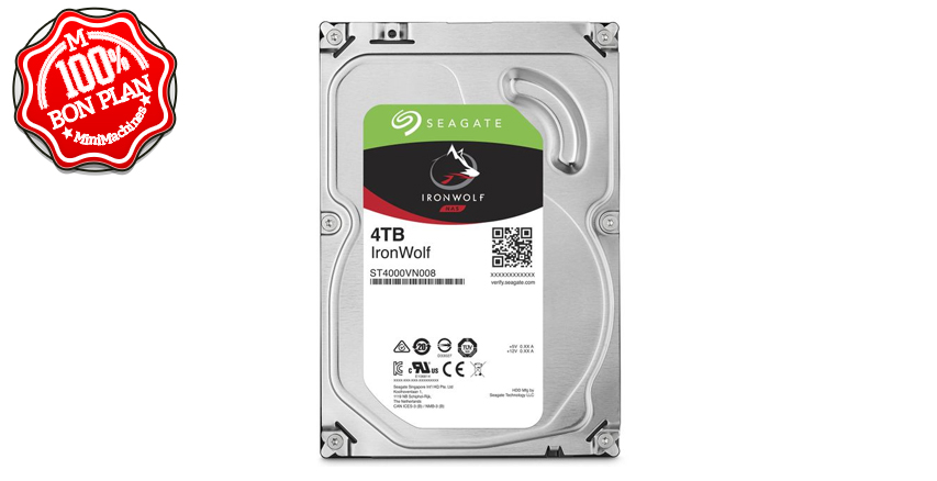 Disque dur Seagate IronWolf 4 To