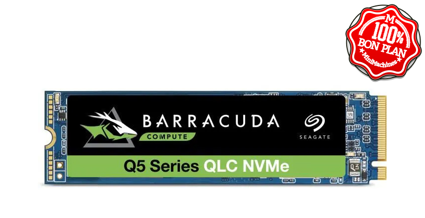 SSD Seagate 1 To BarraCuda Q5 PCIe NVMe