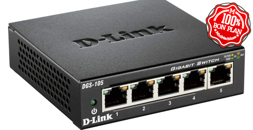 Switch D-Link 5 ports Gigabit DGS-105
