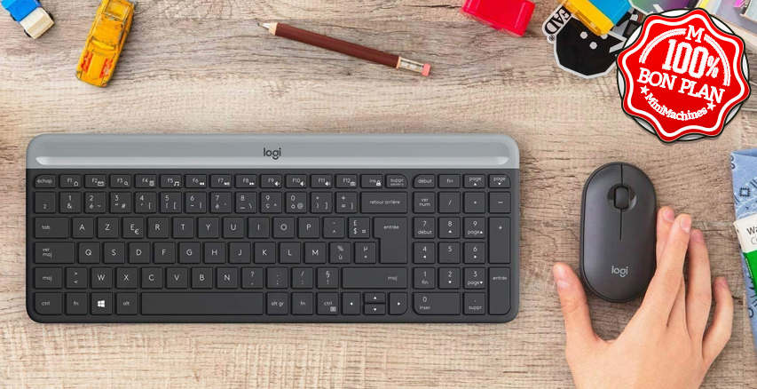 Kit clavier et souris Logitech MK470 sans fil Noir