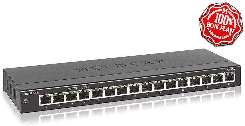 Switch Ethernet 16 ports Netgear GS316 Gigabit