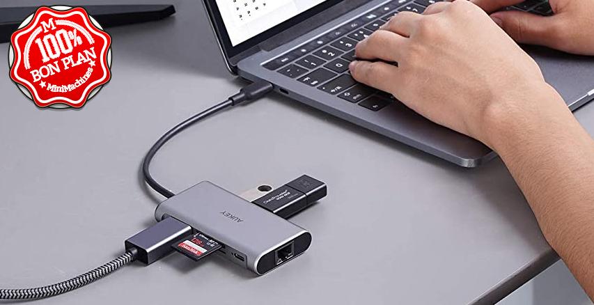 Hub USB Type-C 8-in-1 Aukey