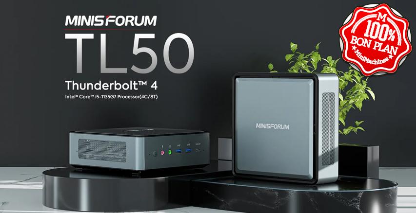 MiniPC Minisforum TL50 I5-1135G7 12/512Go + 2 x 2.5