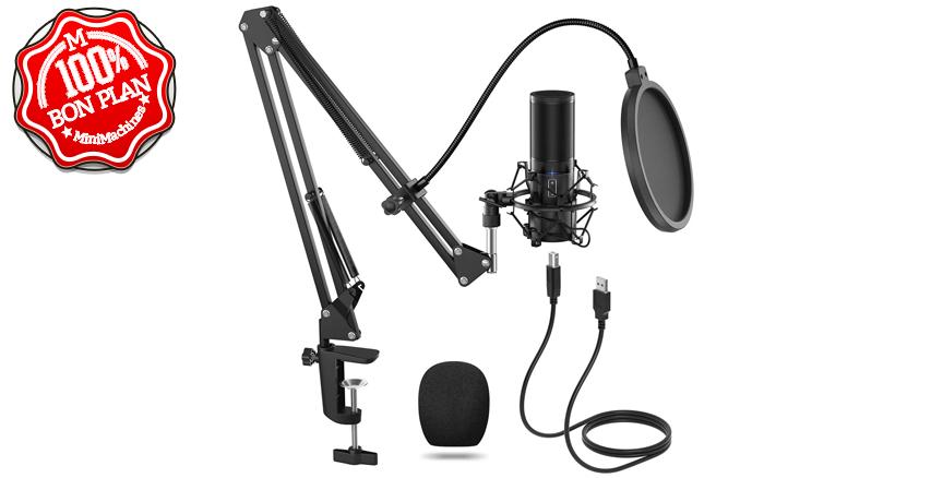 Kit Microphone à Condensateur USB Tonor Q9