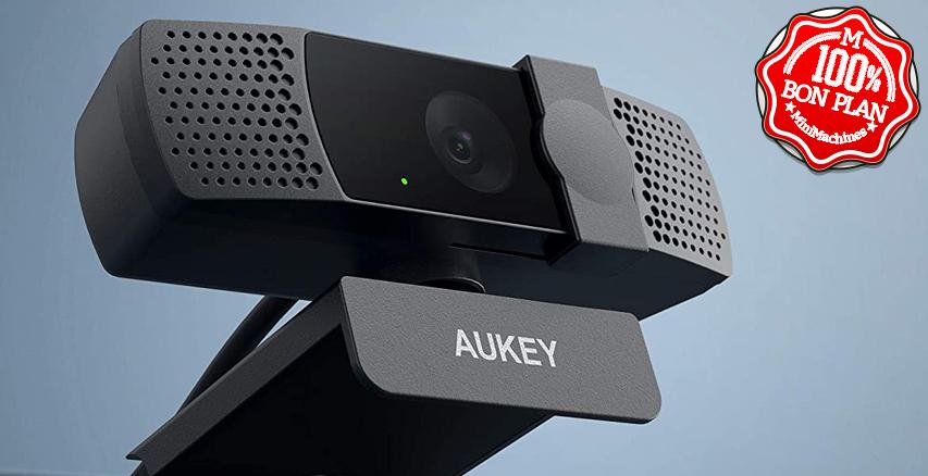 Webcam Aukey PC-LM7 1080P avec cache de protection et double micro