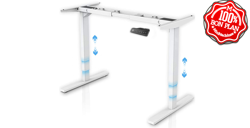 Bureau électrique Assis-debout Maidesite 3 colonnes