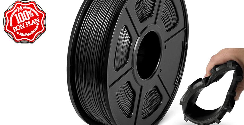 Filament TPU Flexible 1.75 mm JAYO 1 Kg Noir