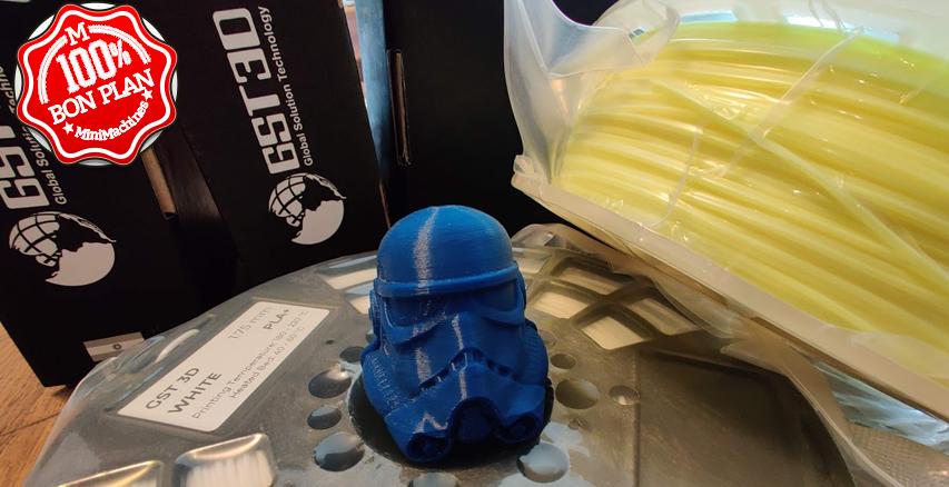 Impression 3D : 10 x 1 kilo de filament PLA GST3D - coloris au choix