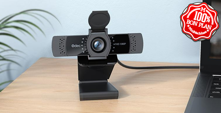 Webcam 2MP 1080P ODEC OD-WB01 avec microphone stéréo et œilleton