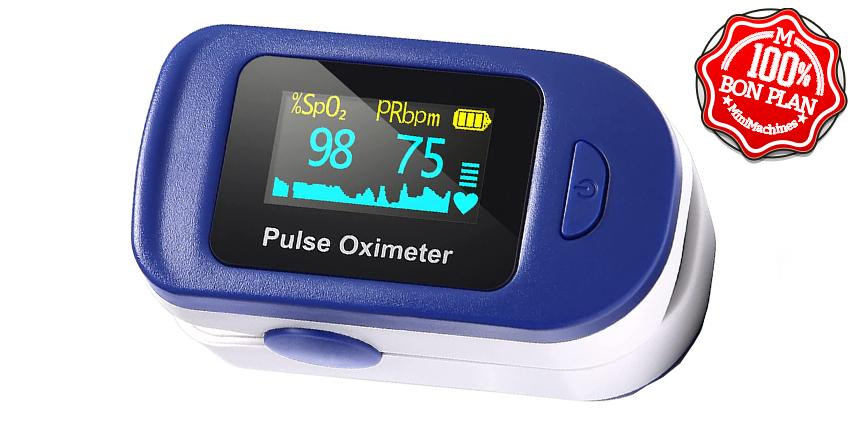 Oxymètre numérique : fréquence cardiaque et SpO2
