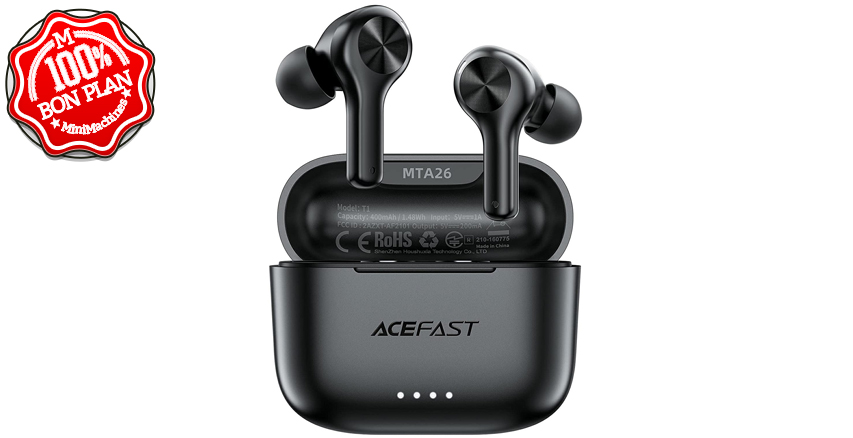 Oreillettes Bluetooth 5.0 AceFast IPX6