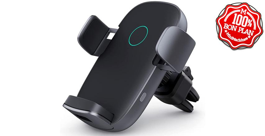 Support smartphone à recharge sans fil Qi 10W