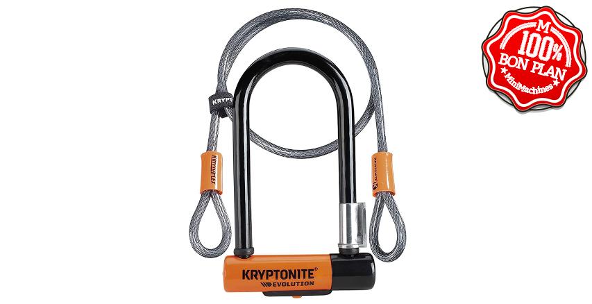 Antivol Kryptonite U Evolution Mini-7 U-Lock 2018 + Câble Flex 4'