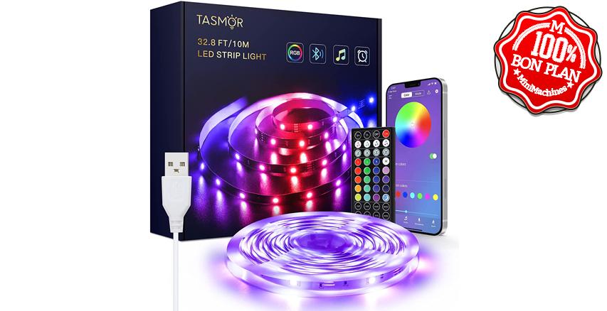 Ruban LED Tasmor : 10 mètres RGB Bluetooth avec app