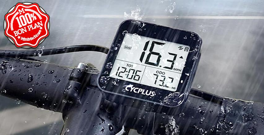Ordinateur de vélo Cycplus G1 Mini avec GPS
